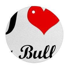 I-Love-My-Bulldog Ornament (Round)