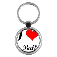 I Love My Bulldog Key Chain (round)