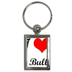 I-Love-My-Bulldog Key Chain (Rectangle)