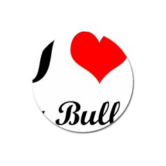 I-Love-My-Bulldog Magnet 3  (Round)