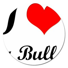 I-Love-My-Bulldog Magnet 5  (Round)