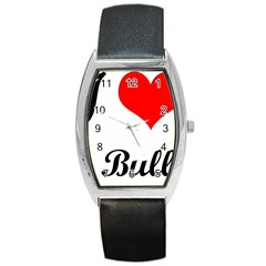 I-Love-My-Bulldog Barrel Style Metal Watch
