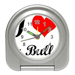 I-Love-My-Bulldog Travel Alarm Clock