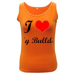 I Love My Bulldog Women s Dark Tank Top