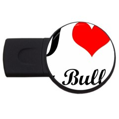 I-Love-My-Bulldog USB Flash Drive Round (4 GB)