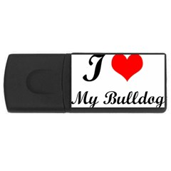 I-Love-My-Bulldog USB Flash Drive Rectangular (4 GB)