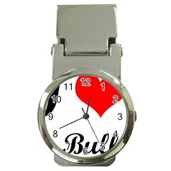 I-Love-My-Bulldog Money Clip Watch
