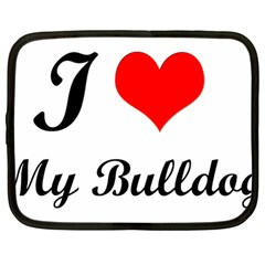 I Love My Bulldog Netbook Case (large)