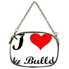I-Love-My-Bulldog Chain Purse (One Side)