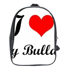 I-Love-My-Bulldog School Bag (Large)