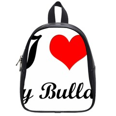 I-Love-My-Bulldog School Bag (Small)