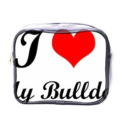 I-Love-My-Bulldog Mini Toiletries Bag (One Side)