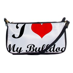I-Love-My-Bulldog Shoulder Clutch Bag