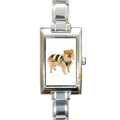 dog-photo Rectangular Italian Charm Watch