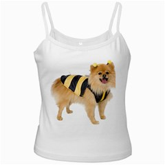 Dog Photo White Spaghetti Tank