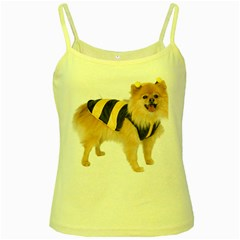 Dog Photo Yellow Spaghetti Tank