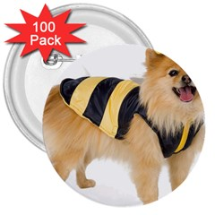 Dog Photo 3  Button (100 Pack)