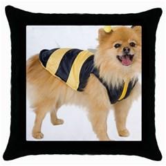 Dog Photo Throw Pillow Case (black)