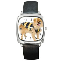 dog-photo Square Metal Watch