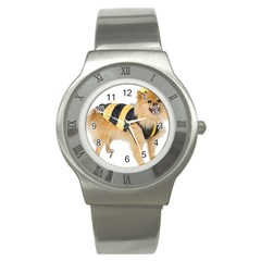 Dog Photo Stainless Steel Watch