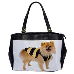Dog Photo Oversize Office Handbag (one Side)