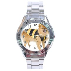 Dog Photo Stainless Steel Analogue Men's Watch