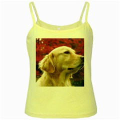 Dog Photo Cute Yellow Spaghetti Tank