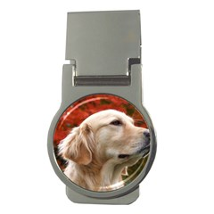 dog-photo cute Money Clip (Round)