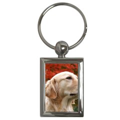 Dog Photo Cute Key Chain (rectangle)