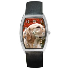 Dog Photo Cute Barrel Style Metal Watch