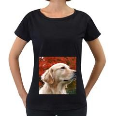 Dog Photo Cute Maternity Black T Shirt