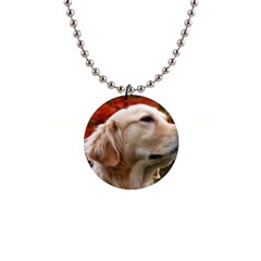 Dog Photo Cute 1  Button Necklace
