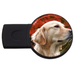dog-photo cute USB Flash Drive Round (4 GB)