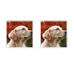 dog-photo cute Cufflinks (Square)