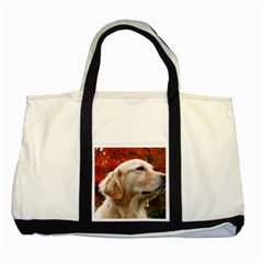 dog-photo cute Two Tone Tote Bag
