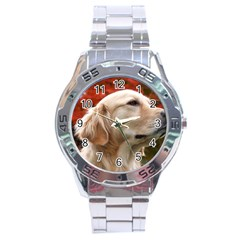 Dog Photo Cute Stainless Steel Analogue Men's Watch