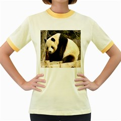 Giant Panda National Zoo Women s Fitted Ringer T-Shirt