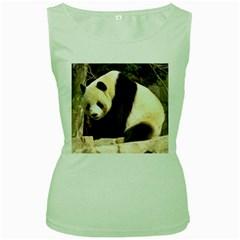 Giant Panda National Zoo Women s Green Tank Top