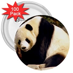 Giant Panda National Zoo 3  Button (100 Pack)