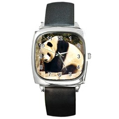 Giant Panda National Zoo Square Metal Watch