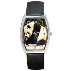 Giant Panda National Zoo Barrel Style Metal Watch