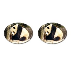 Giant Panda National Zoo Cufflinks (oval)