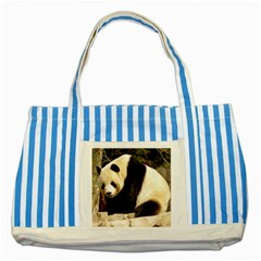 Giant Panda National Zoo Striped Blue Tote Bag