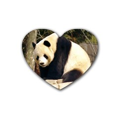 Giant Panda National Zoo Rubber Coaster (heart)