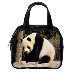 Giant Panda National Zoo Classic Handbag (one Side)