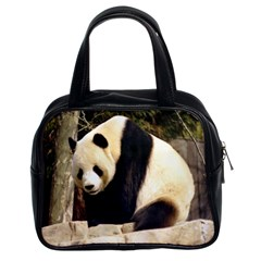 Giant Panda National Zoo Classic Handbag (two Sides)
