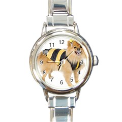 My-Dog-Photo Round Italian Charm Watch