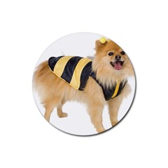 My Dog Photo Rubber Coaster (round)