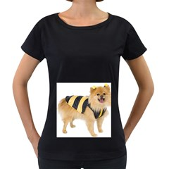 My-Dog-Photo Maternity Black T-Shirt