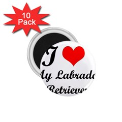 I Love My Labrador Retriever 1 75  Magnet (10 Pack)